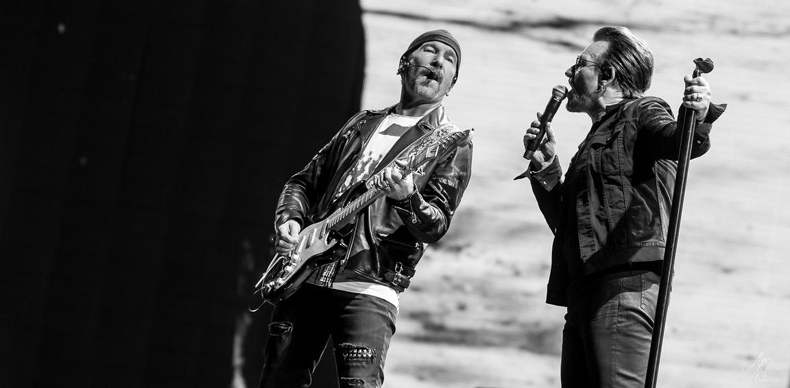 Bono and The Edge - FedEx Field in Landover, Maryland