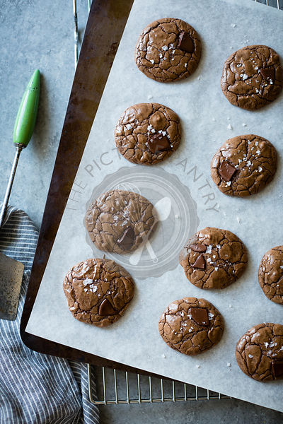 salted double chocolate buckwheat cookies (gluten-free)