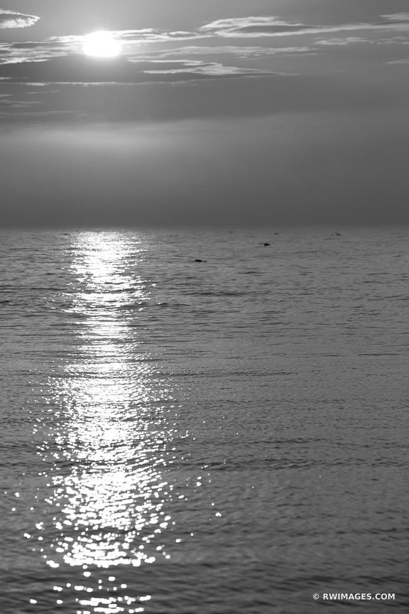 SUNSET CAPE ANN MASSACHUSETTS BLACK AND WHITE VERTICAL