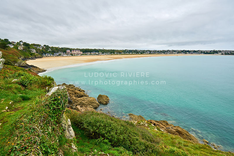 ittany beach called The Big Beach taken from Pointe de la garde, Saint-Cast-le-guildo, France, Brittany