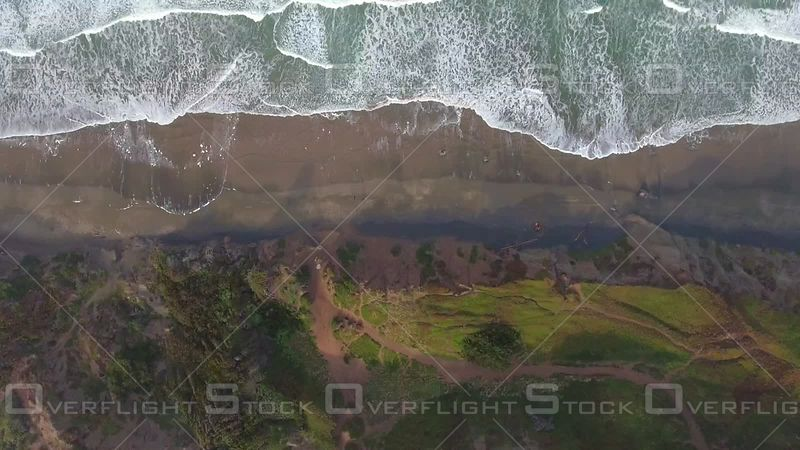 Overhead Aerial Beach Waves Ocean Birds-eye-view