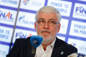 Alexander Meshkov during the Final Tournament - Closing press conference - Final Four - SEHA - Gazprom league, Skopje, 15.04.2018, Mandatory Credit ©SEHA/ Stanko Gruden