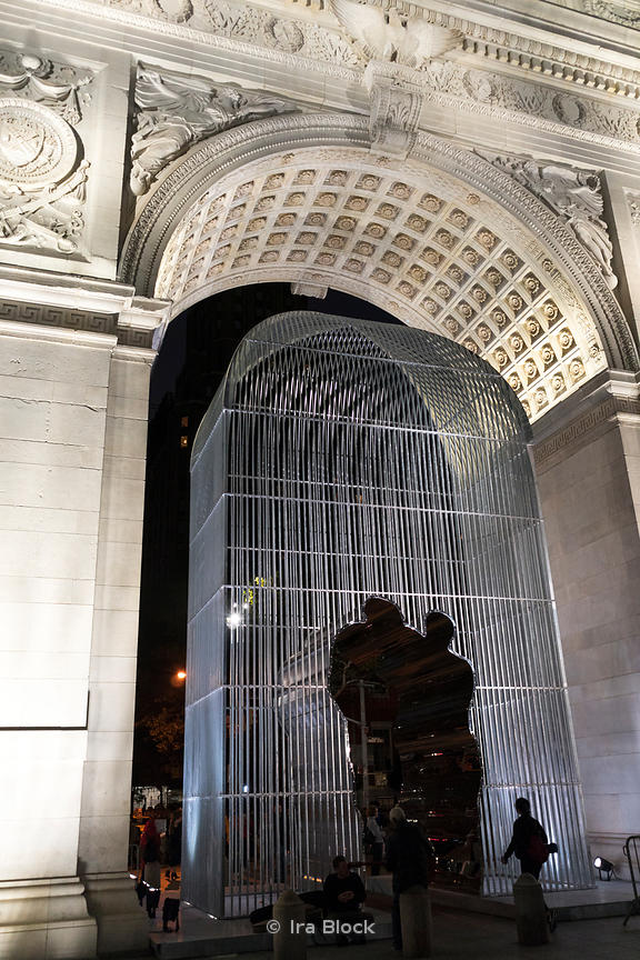 Ai Weiwei's art installation at Washington Square Park in New York City