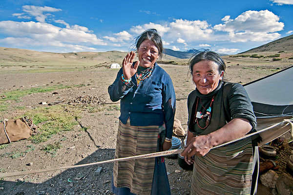 This photograph of Ladakhi nomads was taken near Tso-moriri lake, Ladakh.