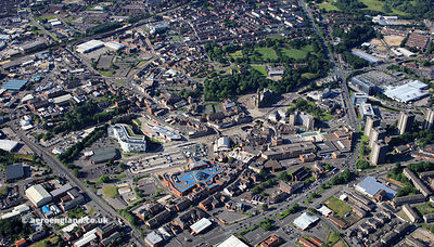 Rochdale Greater Manchester UK from the air