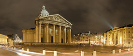Pantheon Place by night, Paris