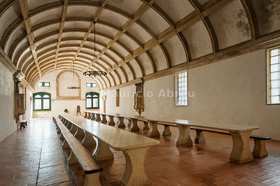 The refectory hall. Convent of Christ, a UNESCO World Heritage Site. Tomar, Portugal