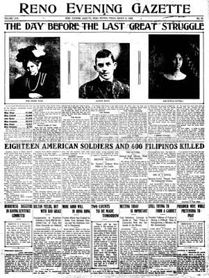 Headlines-Moro crater massacre during Philippine-American War