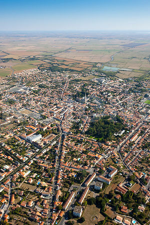 photo aerienne de Luçon