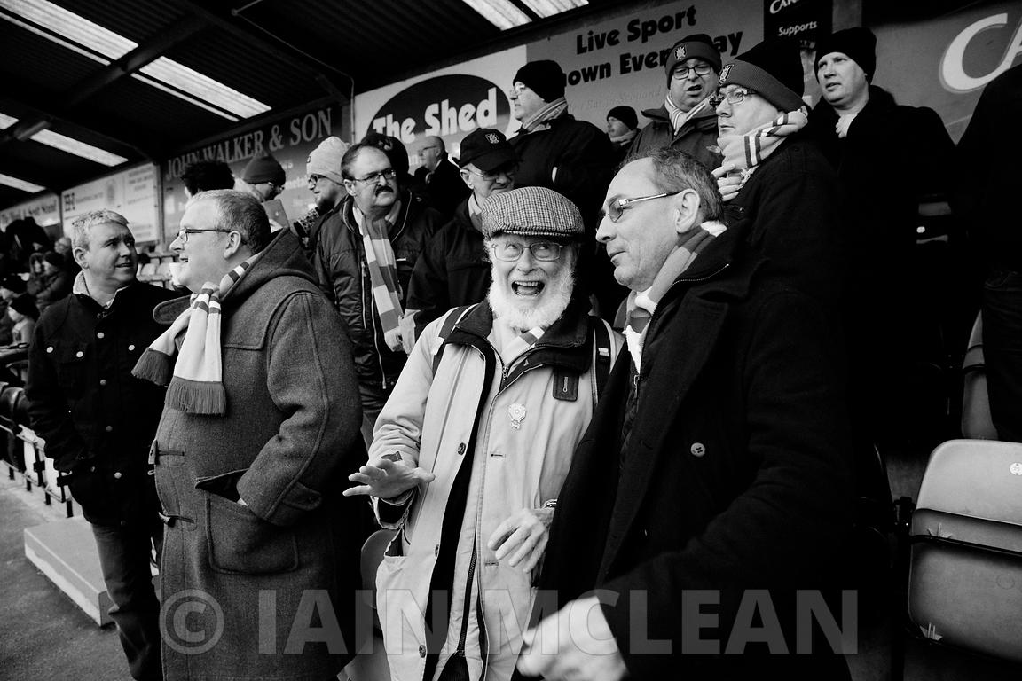 Galabank Stadium, Annan.7.3.15.Annan 1-3 Albion Rovers.Another windswept day in the far south..Great first half against the wind, then a second half defending the lead from Rovers...Picture Copyright:.Iain McLean,.79 Earlspark Avenue,.Glasgow.G43 2HE.07901 604 365.photomclean@googlemail.com.www.iainmclean.com.All Rights Reserved.