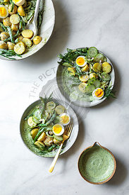 Green goddess potato salad