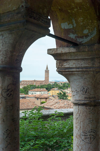 A Tower In Verona Seen From The Palazzo in The Giardino Giusti Gardens