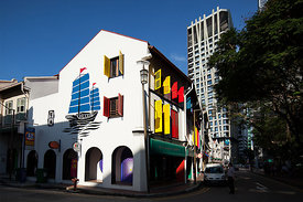 Colourful Shop House Amoy Street