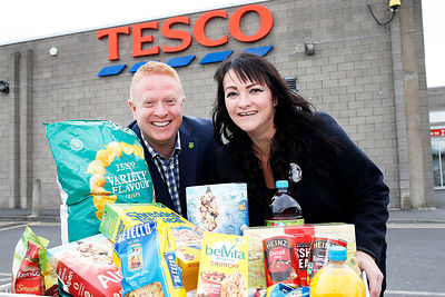 Tesco has launched a new permanent food collection point in Cleckheaton to help provide emergency food and support to local people in crisis..Gareth Batty - Fareshare Yorkshire Chief Executive.Clare Findlay - Store Manager