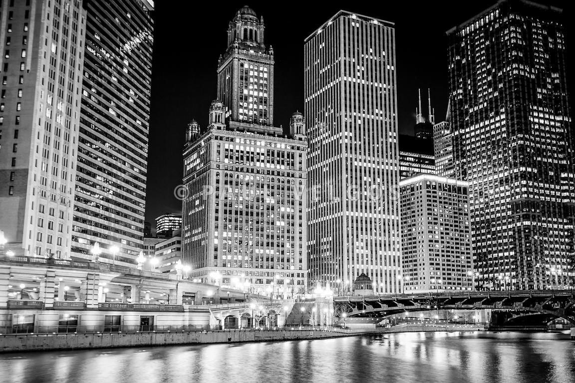 Chicago Wall Art image: black and white picture of chicago skyline large canvas