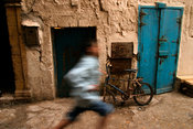 Child running in the medina