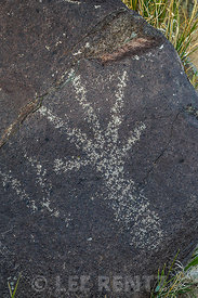 Rock Art Showing Human Hand at Three Rivers Petroglyph Site