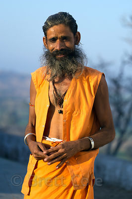Sadhu at a temple in Bhagwanpura village, Rajasthan, India