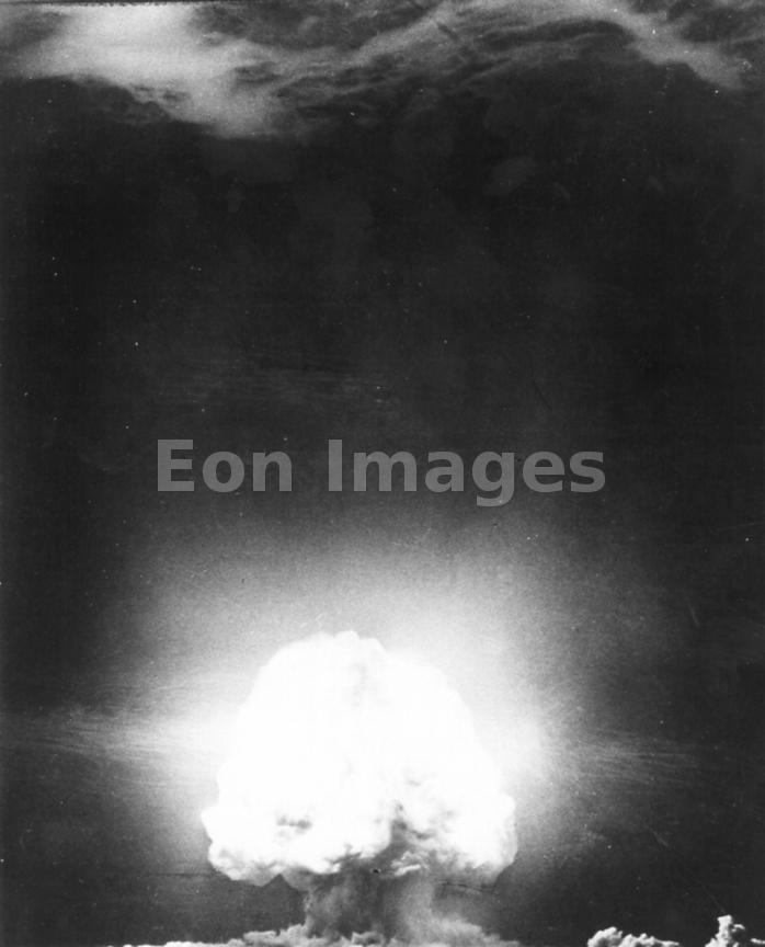 Detonation of first atomic bomb, Trinity in 1945