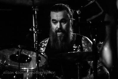 Chris Turner, drums, Orange Goblin, Sacramento