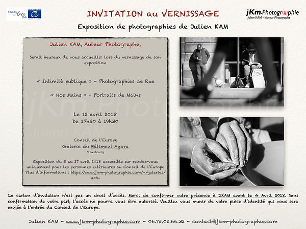 VERNISSAGE - Conseil de l'Europe - 12 avril 2018 photos