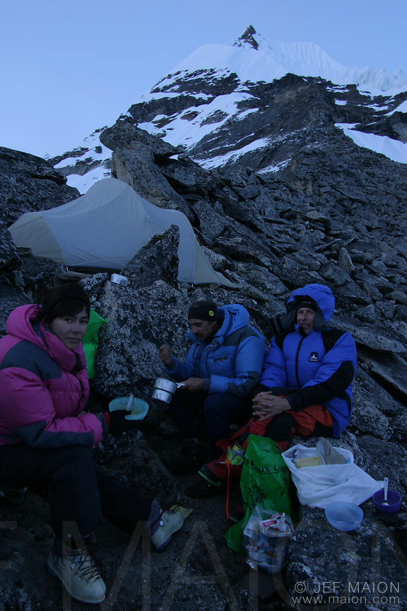 Dinner at an altitude camp