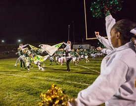 Iowa City West takes the field prior to the Battle for the Boot at Iowa City West Friday night, October 5, 2012. (Justin Torner/Freelance)