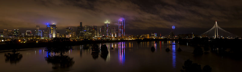Dallas Skyline From the Sylvan Bridge