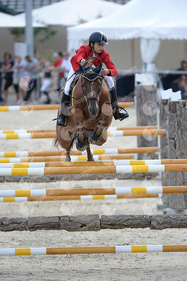 CODECASA Elena, (ITA), TAYSON during  competition at European Jumping Championship for Children, Juniors, Young riders at Lake Arena, Wiener Neustadt - Austria