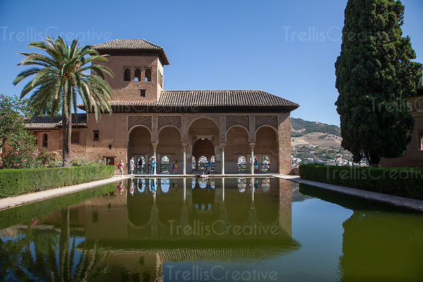 Reflection of Nasrid Palace, Granada, Spain