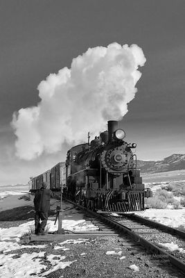 Nevada Northern Railway #40 and switch-tender