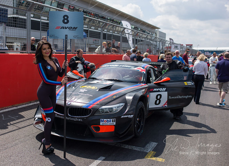 Triple Eight Race Engineering BMW Z4 GT3 on the starting grid at the Silverstone 500 - the third round of the British GT Championship 2014 - 1st June 2014