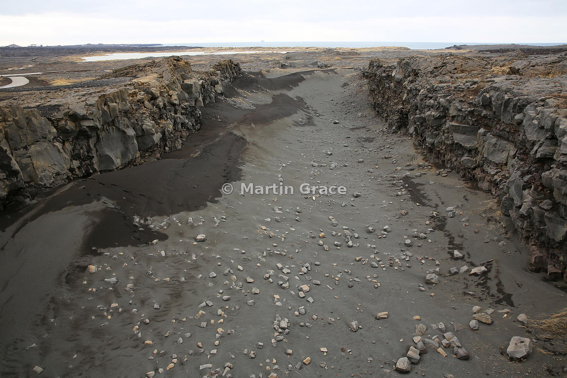 Part of the Reykjanes Ridge, itself part of the larger North American Ridge, where the North American and Eurasian tectonic plates are separating from each other at 2cm per year