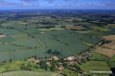aerial photograph of Gunthorpe,  Norfolk England UK