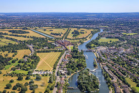 Arial View taken in and around Hampton Court