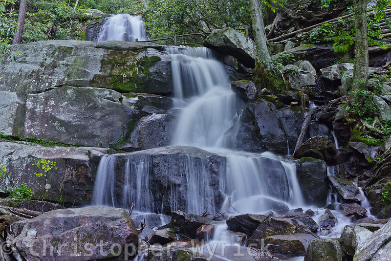 Lower section of Laurel Falls.  The detail of the rocks and softness of the water make for a beautiful print.