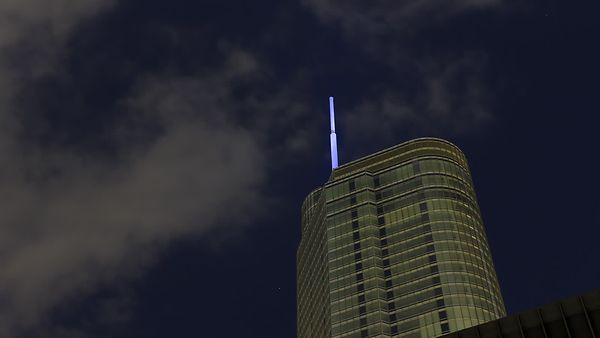 Close Up: Trump Tower Beacon In The Night Sky
