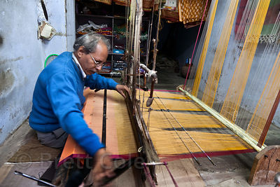 A high-end weaver from Bundi, Rajasthan, India whose textiles are sold all over the world