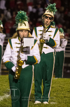 The Iowa City West High MArching Band performs prior to the Battle for the Boot at Iowa City West Friday night, October 5, 2012. (Justin Torner/Freelance)