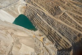 Aerial photograph of  the Sierrita Mine in Green Valley, Arizona