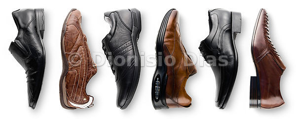 Leather men's shoes