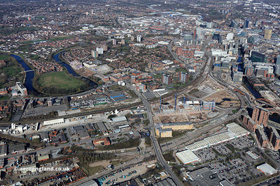 aerial photograph of Salford