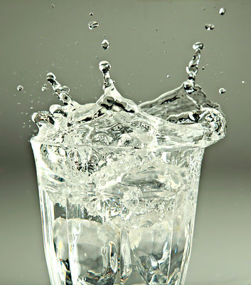 Water Splash in Glass