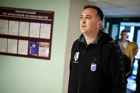 Slavko Goluza during the Final Tournament - Final Four - SEHA - Gazprom league, Bronze Medal Match Meshkov Brest - PPD Zagreb, Belarus, 09.04.2017, Mandatory Credit ©SEHA/ Nebojša Tejić..