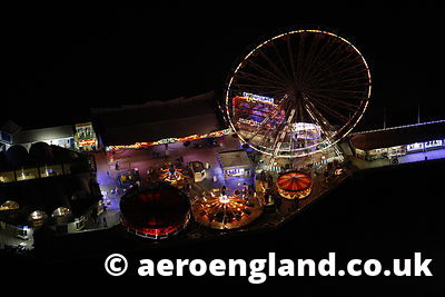 aerial photograph of  the  Central Pier at Blackpool  Lancashire England