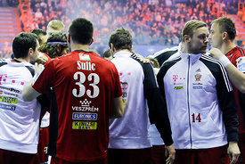 Time - out during the Final Tournament - Final Four - SEHA - Gazprom league, Telekom Veszprém - Meshkov Brest in Brest, Belarus, 07.04.2017, Mandatory Credit ©SEHA/ Stanko Gruden