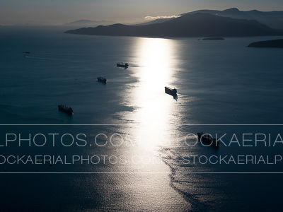 Ships in English Bay, Vancouver