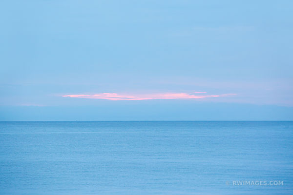 SUNSET BLUE OCEAN HERRING COVE BEACH LIGHTHOUSE CAPE COD MASSACHUSETTS