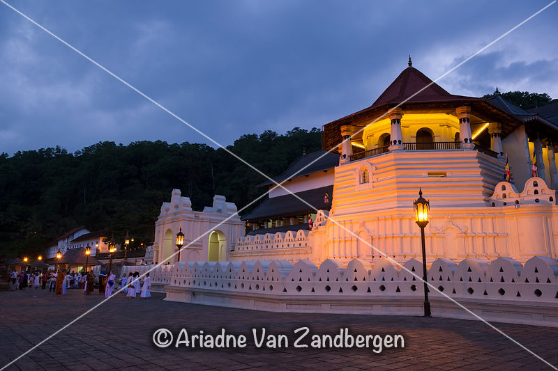 Temple of the Tooth at dusk, Kandy, Sri Lanka