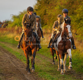 Hilary Butler, Clare Bell canter towards Mrs Wilson's covert 27/9